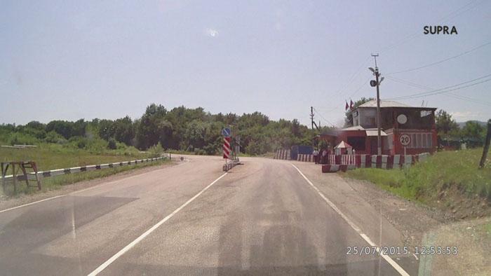 пост ДПС на дороге в Архыз от п. Псебай