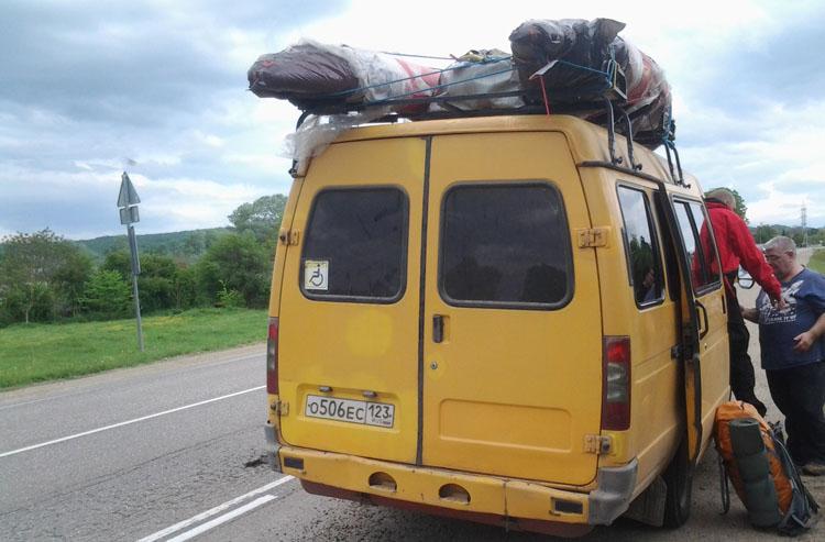 Автобус Газель для заброски водные походы, сплав река Пшеха