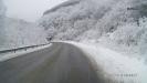 Зимняя дорога за п. Каменномостский, (Хаджох) вдоль р. Белая