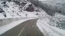 Река Белая у дороги на Гузерипль зимой
