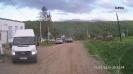 Транспорт с туристами в центре с. Новопрохладное