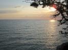 Вид на Черное море на закате со Скалы Киселева