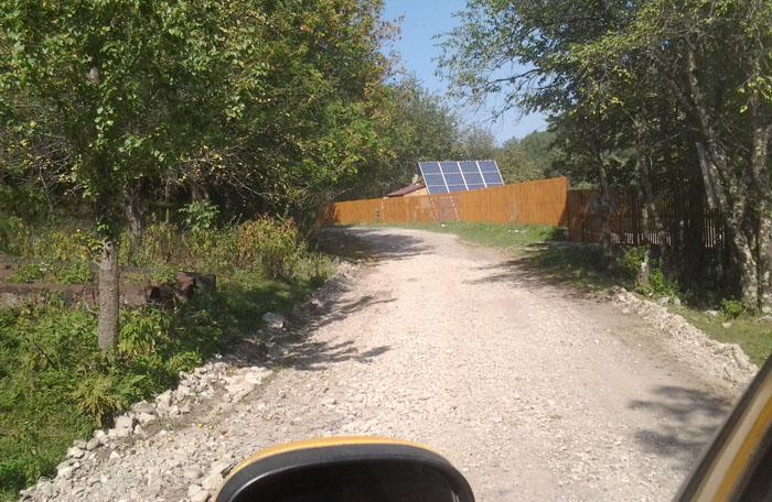 хутор Кутан на пути к Кордону Черноречье