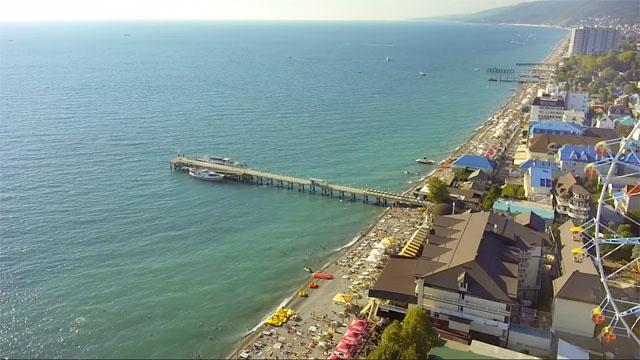 Лазаревское фото поселка и пляжа достопримечательности
