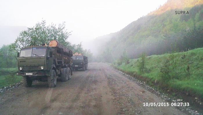Лесовозы - доехать, добраться в Рожкао