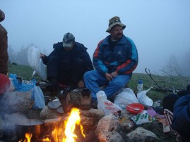 Night - Hiking in the mountains of Lago-Naki, Thirtieth, (30) route, the Caucasus, Russia