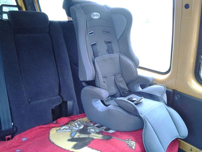 Такси в Домбай с детьми, детское кресло в автобусе, (микроавтобусе)