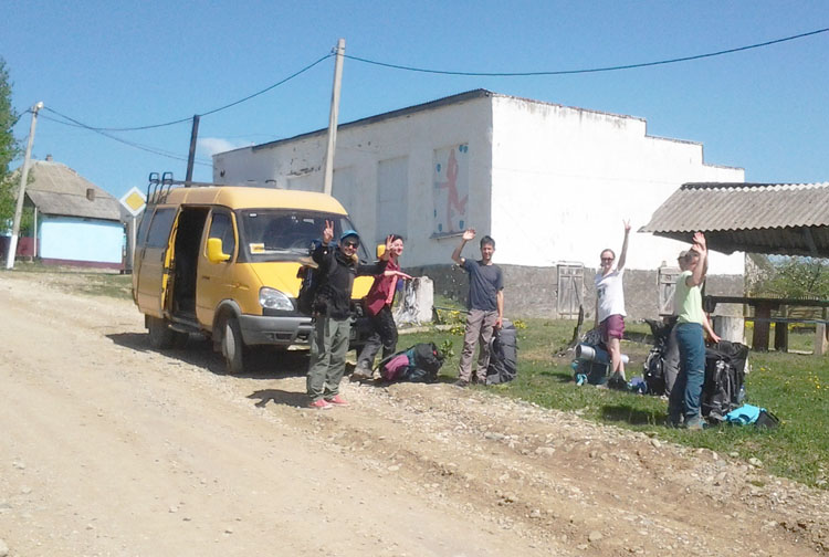 Заброска до центра села Новопрохладное из Краснодара