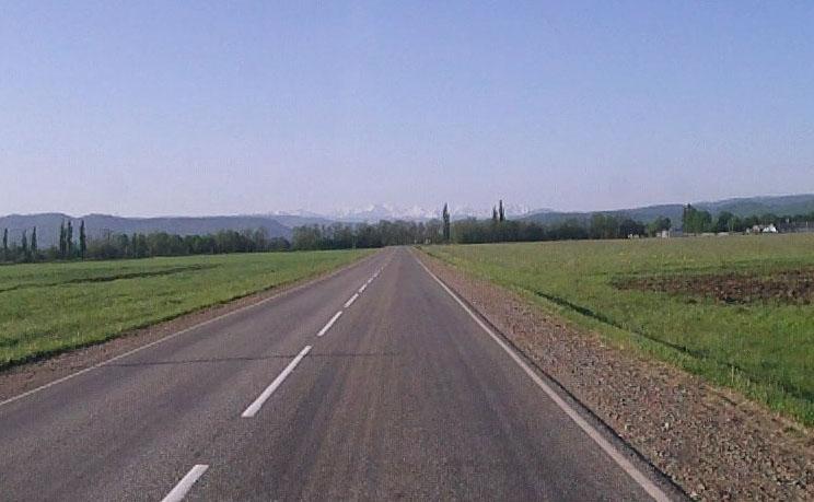 Заброска в Новопрохладное весной, дорога в п. Тульский