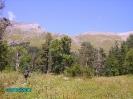 Лунная поляна, Архыз - вид в сторону перевала Федосеева