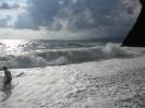 Пляж у Скалы Киселева перед дождём