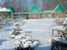 Деревянные домики зимой