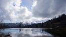 Вид на заснеженные горные вершины - Партизанская поляна, Адыгея