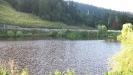 Вид на дорогу с обратного берега озера - Партизанская поляна, Адыгея