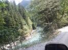 Река Большая Лаба с обрыва